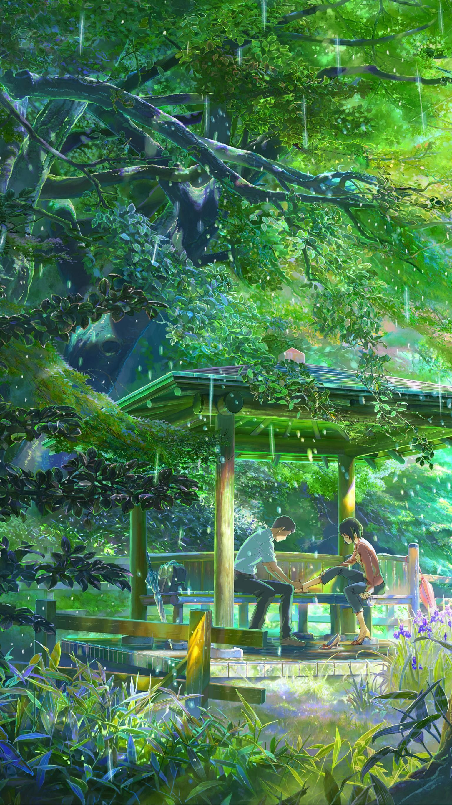 24 Beautifull Garden Background Anime To Save Your Space Anime Backgrounds Wallpapers Anime Scenery Wallpaper Garden Of Words 24 gif wallpaper anime