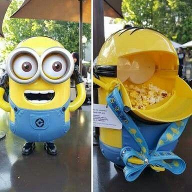 Balde refil de pipoca nos Parques da Universal Studios #universal #studios #minions #pipoca #souvenir