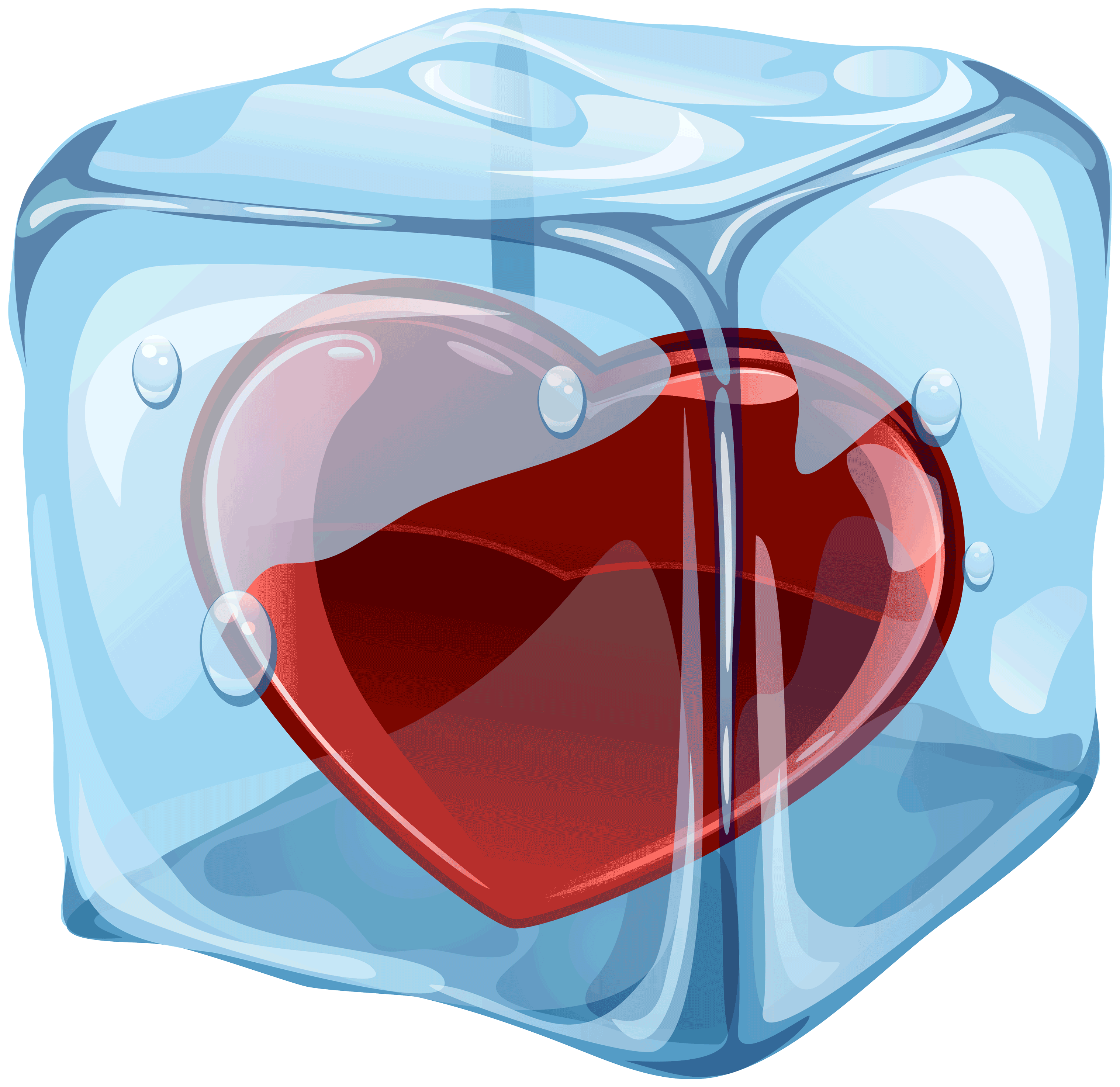 Heart In Ice Cube Png Clipart Clip Art Broken Heart Emoji Ice Cube Png