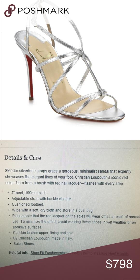 7c61b94da8c3 Christian Louboutin Youpiyou Sandal NWT metallic silver leather sandals  size 39 Christian Louboutin Shoes Sandals