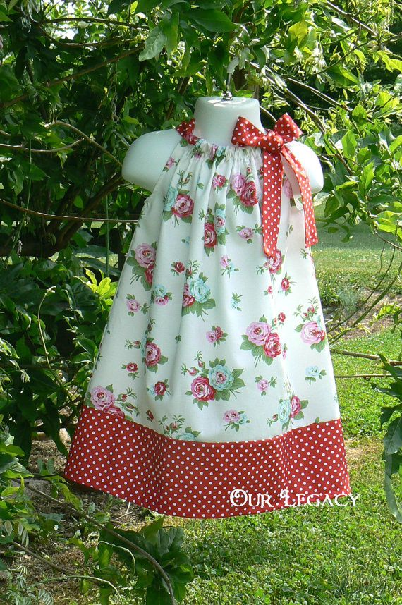 Timeless Roses Pillowcase Dress Ready to ship size by OurLegacy, $18.00
