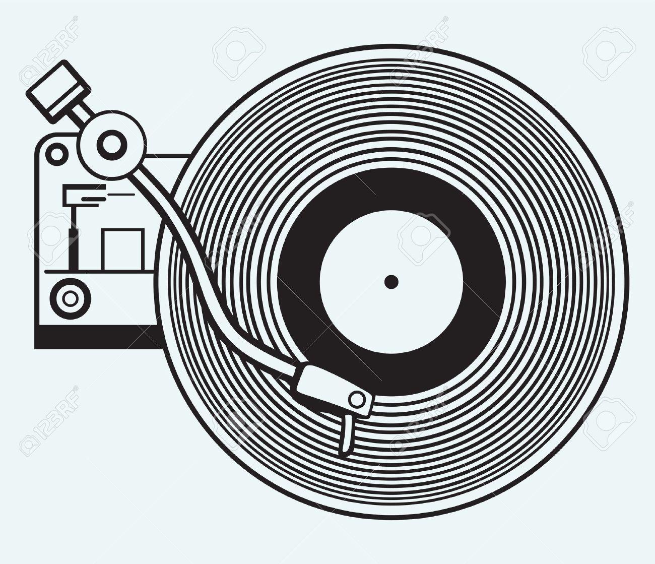 Stock Vector Vinyl record art, Record player tattoo, Vinyl