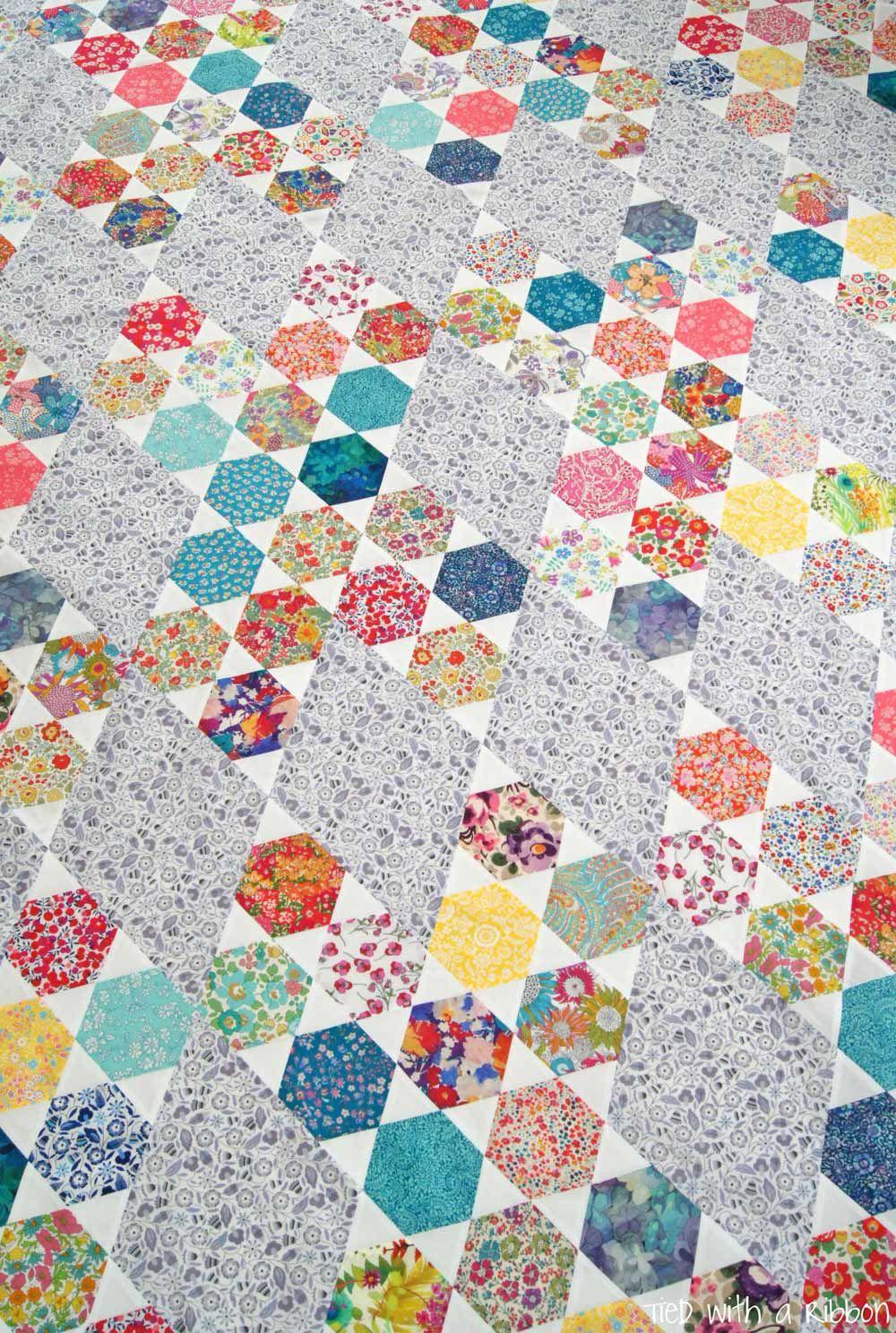 Liberty Hexie Kisses Quilt - Alice Caroline - Liberty fabric ... : liberty quilting fabric - Adamdwight.com