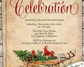 holiday office party invitations