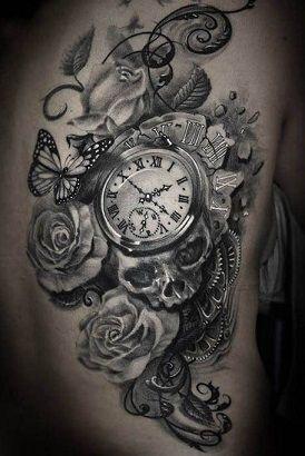 d8d033c4f clock tattoos for women - Google Search | TATAUs | Skull tattoos ...