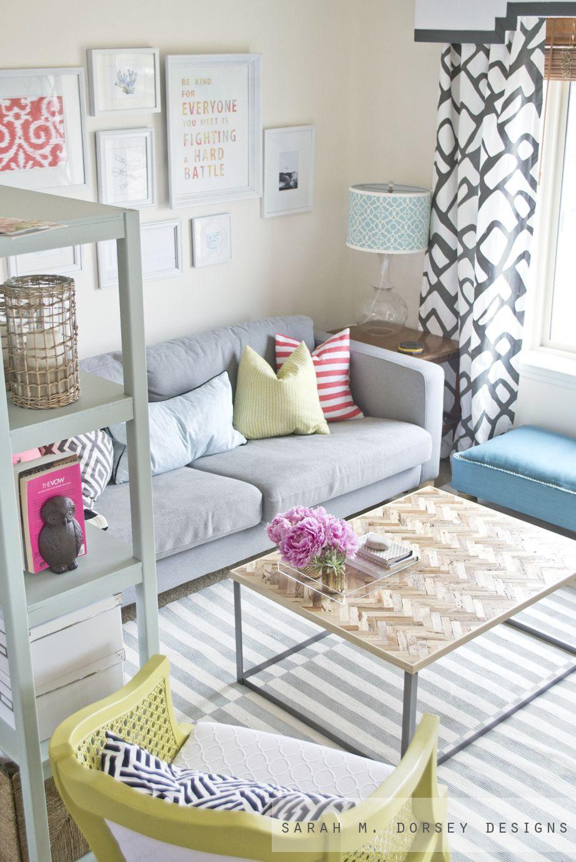 pastel livingroom, painted rug