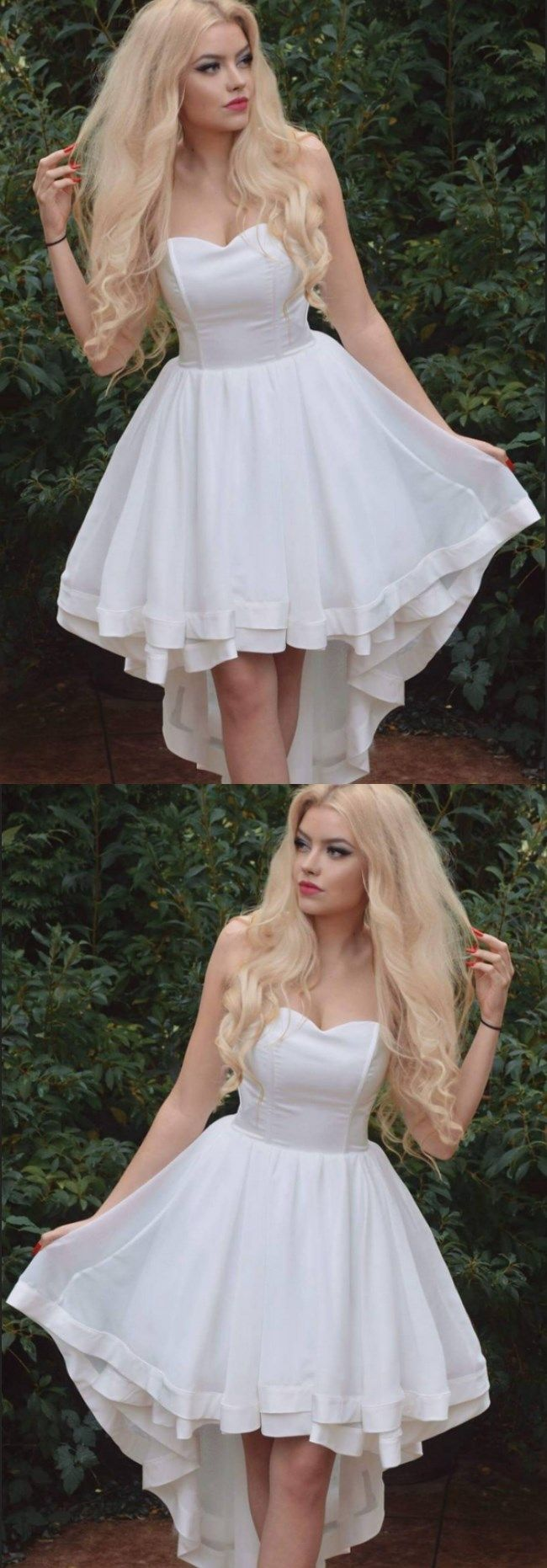 High low homecoming dresses aline cheap ivory short prom dress sexy