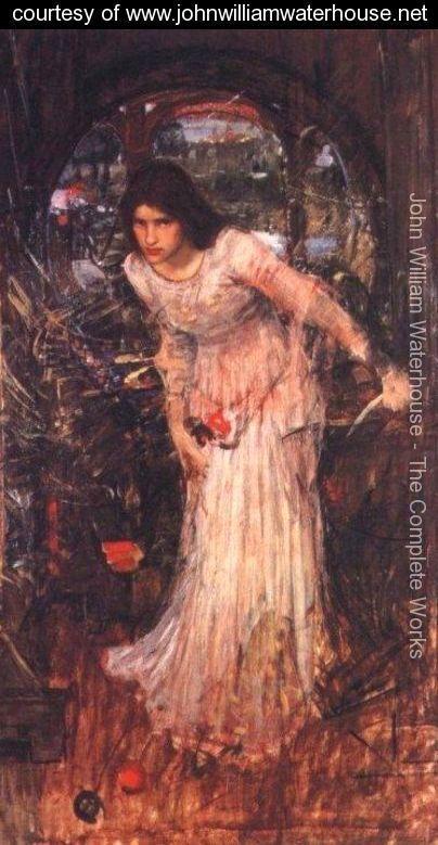 Study for The Lady of Shalott - John William Waterhouse - www.johnwilliamwaterhouse.net