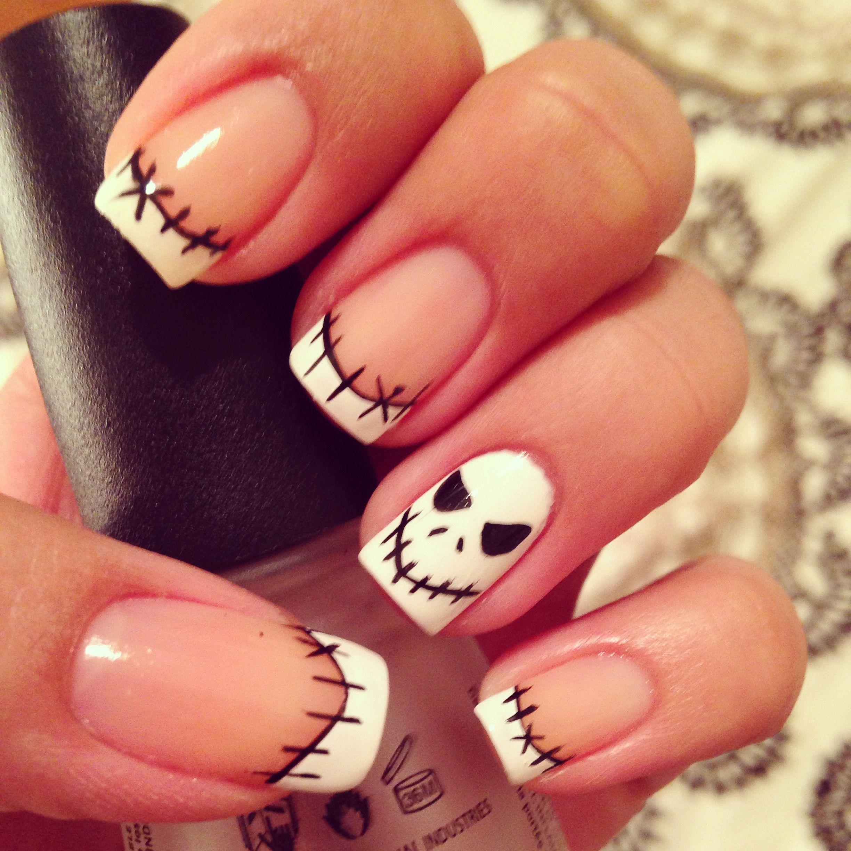 jack skellington nail art halloween nail art | Nails ...