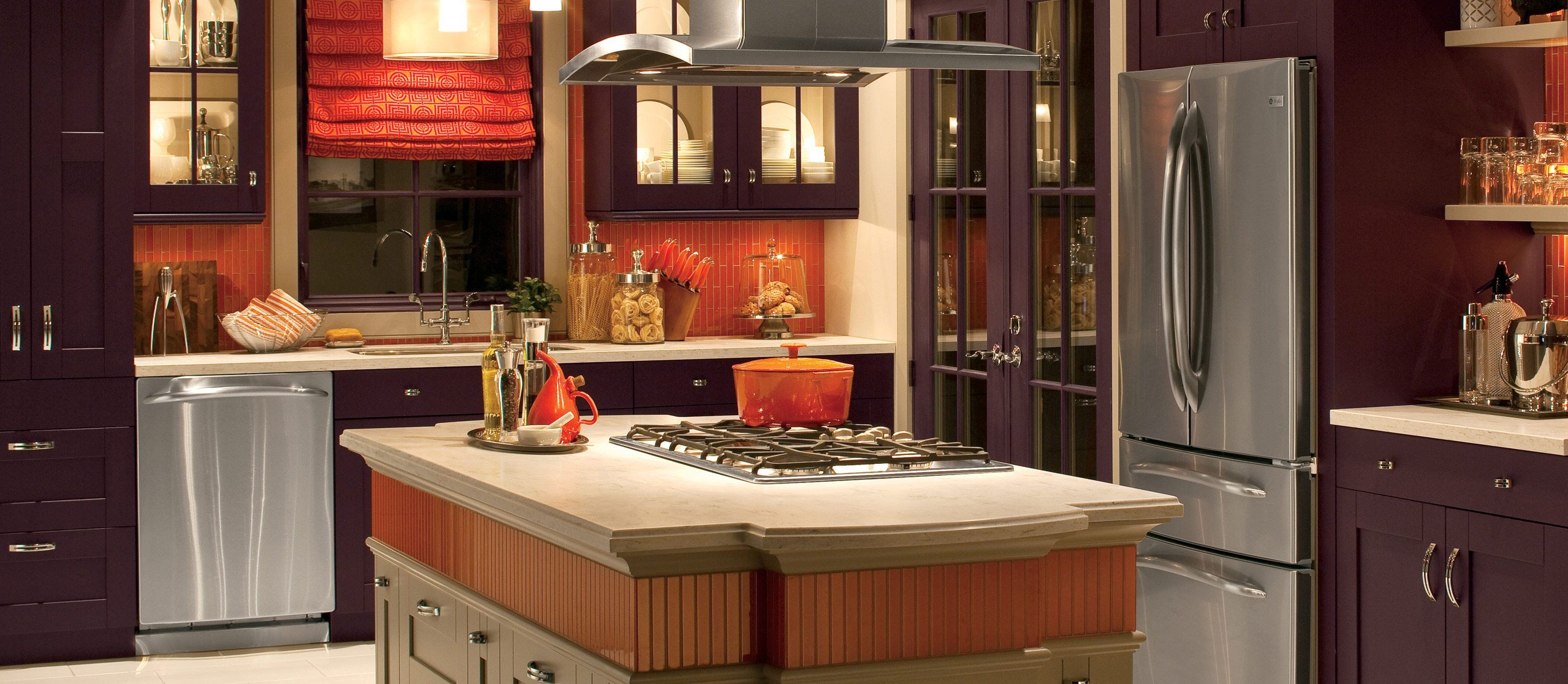 Creating A Kitchen For Entertaining: Thanksgiving Colors Abound In This Kitchen! This Kitchen
