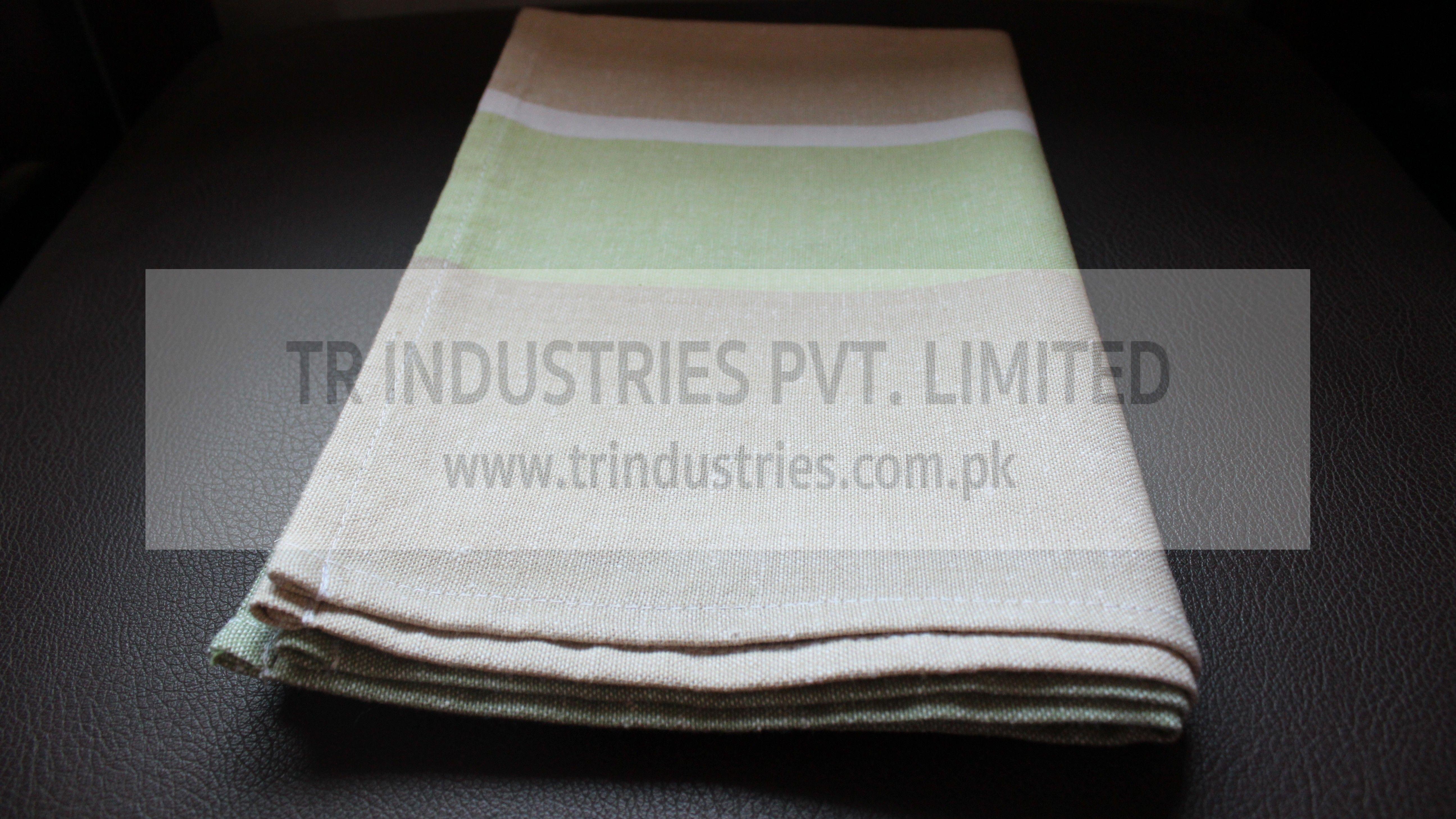 100% Cotton Yarn Dyed Kitchen Towel Beige Green White #kitchentowel ...