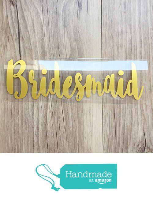 Bridesmaid Iron On Transfer Vinyl Diy Heat For T Shirt Tote Bag