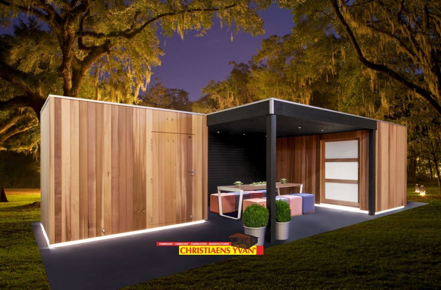 Moderne en zeer moderne tuinhuizen yvan christiaens luxeline modern tuinberging - Moderne woning buiten lay outs ...