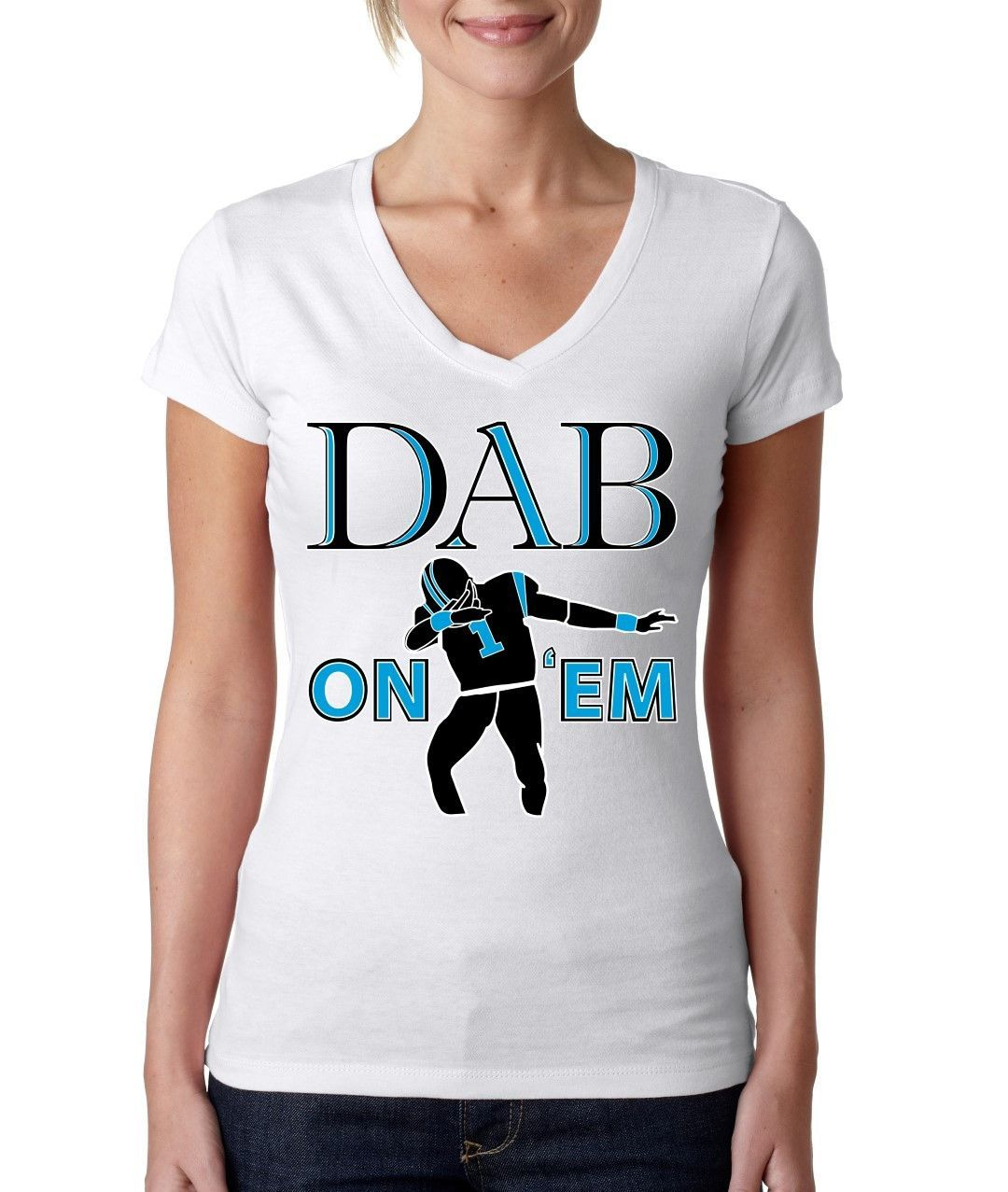 Dab on em Cam Newton Big Will Sporty V Shirt women