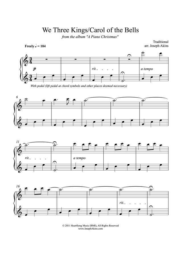 An instant PDF download of the solo piano sheet music for