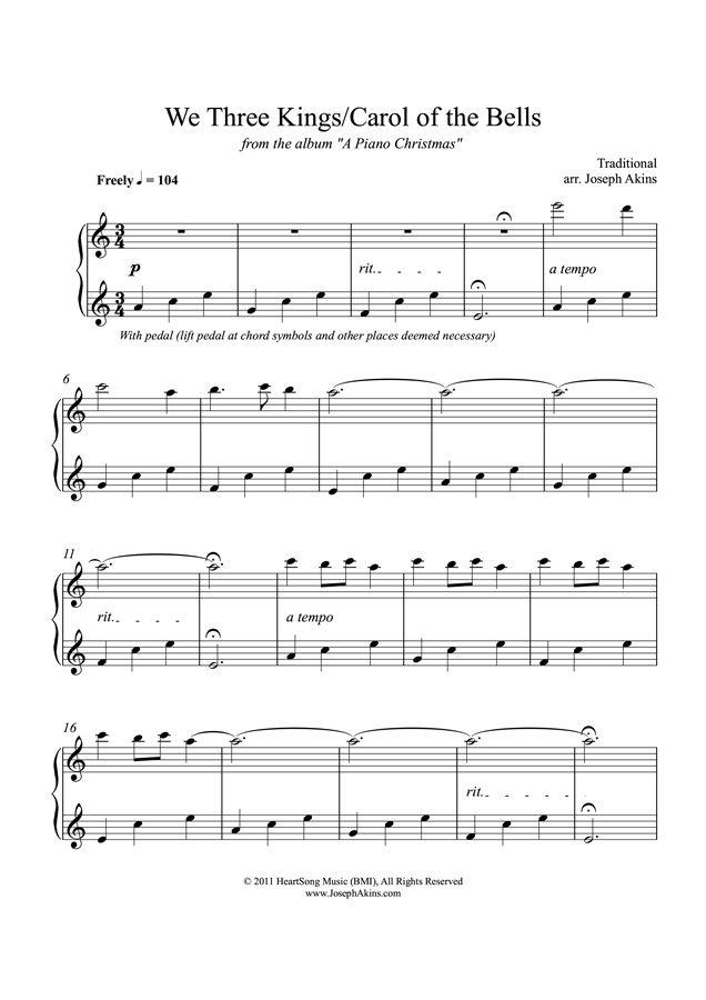 picture regarding We Three Kings Lyrics Printable referred to as We A few Kings/Carol of the Bells\