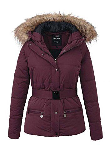 Winterjacke damen bordeaux rot