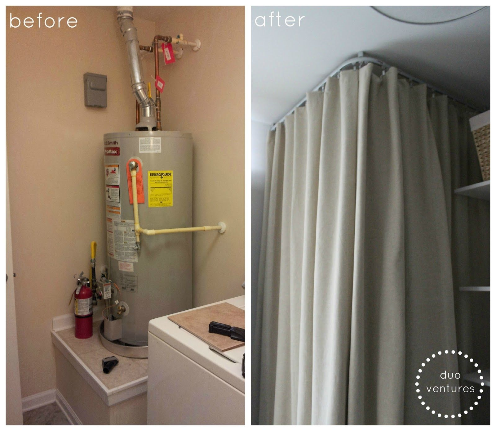 How To Hide Your Water Heater Ikea Kvartal System Laundry Room