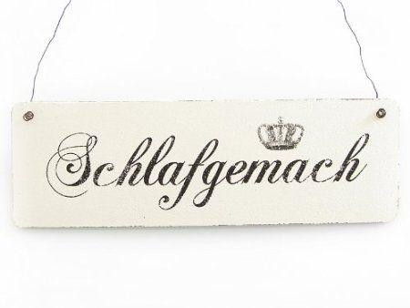 Vintage Deko Schild Türschild ENGELLANDEPLATZ Shabby Nostalgie Landhaus Holz wei
