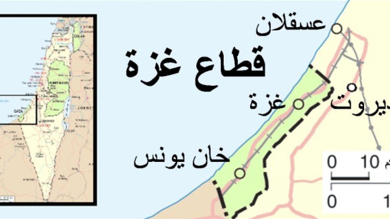 أين تقع غزة في فلسطين Map Locations