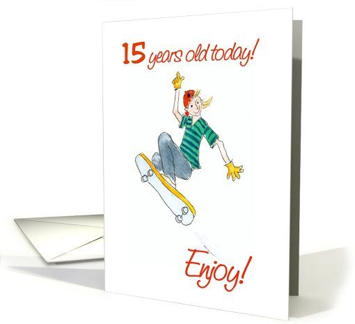 Skateboarding 15th birthday card 15th birthday pinterest 15th skateboarding 15th birthday card up to 350 now also shipped from the uk m4hsunfo