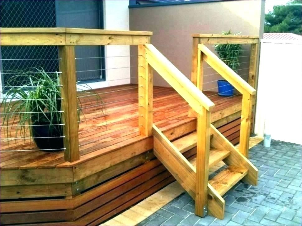 Exterior Stair Railing Kit Exterior Stair Railings Deck Stair | Exterior Wood Handrail Designs | Exterior Railing Iron | Style Stainless Steel Wood | Wooden | Contemporary Wood | Modern