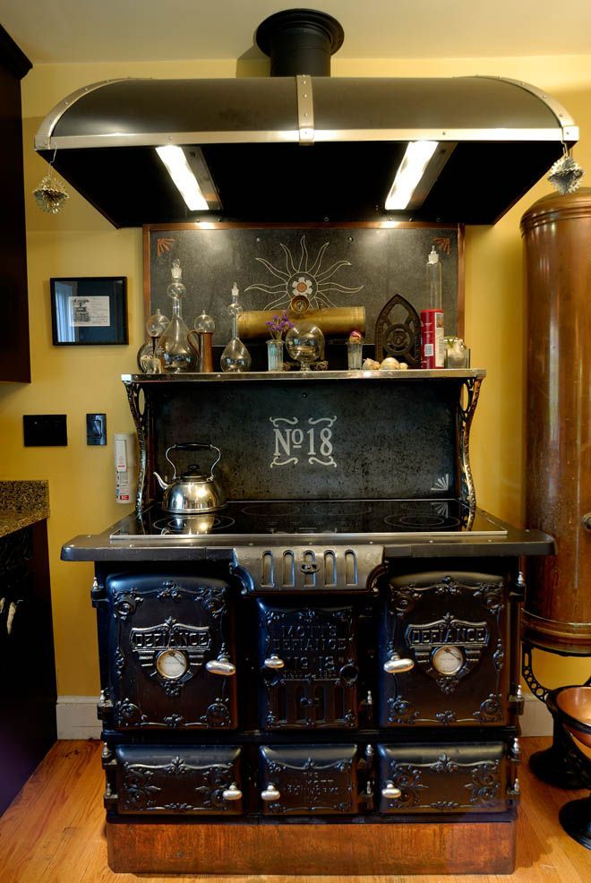 Huge Cast Iron Stove Steampunk House Wood Stove Cooking Modern