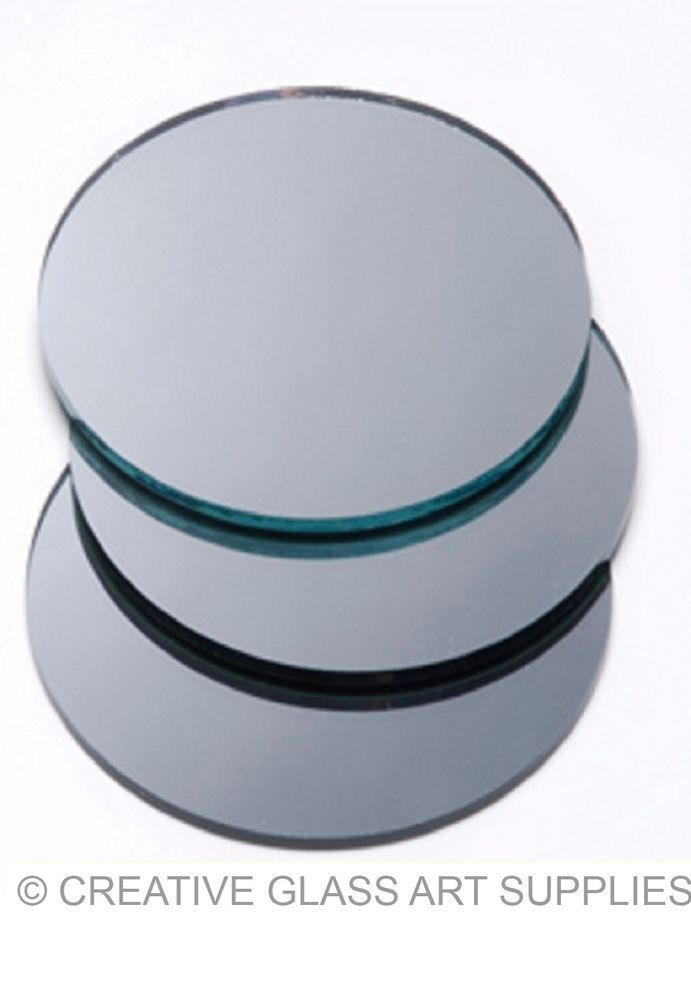 3 ct - 2  inch ROUND SILVER GLASS Mirror Mosaic Tiles, US $2.95 on eBay