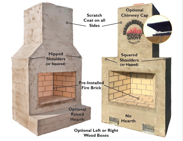 Custom Brick Outdoor Fireplaces Custom Bricks Outdoor Fireplace