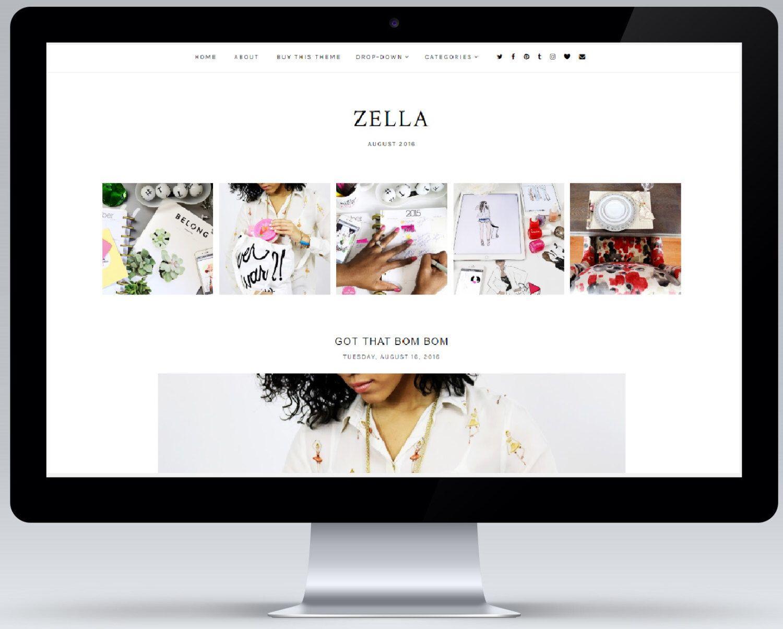 Venta! Zella | Respuesta plantilla de Blogger de MisteryDesigns en ...