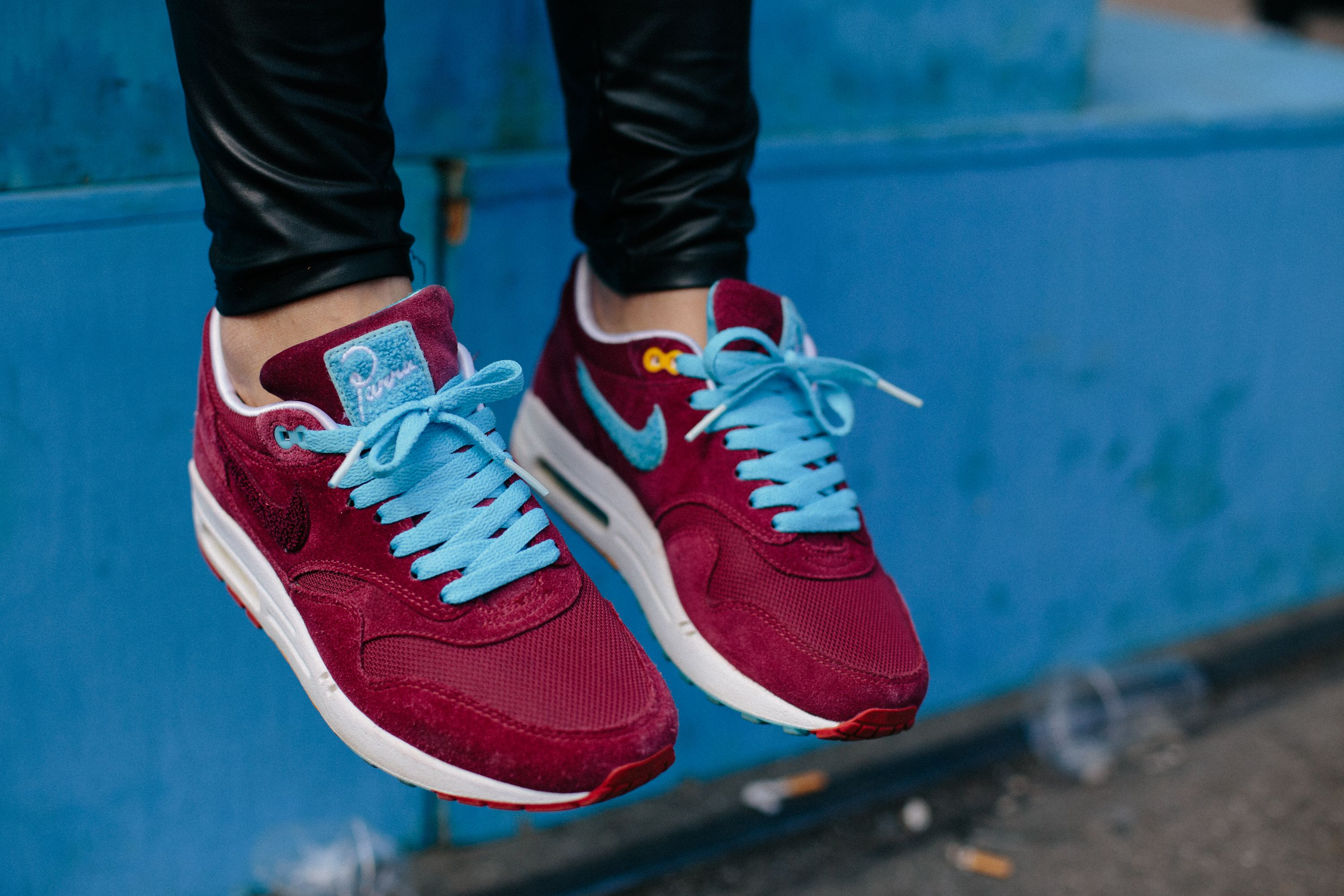 on feet images of nice cheap official shop Parra x Patta x Nike Air Max 1 Maroon | Sneakers, Nike shoes ...