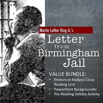 letter from birmingham jail bundle rhetorical analysis close  letter from birmingham jail bundle rhetorical analysis close reading unit ppt