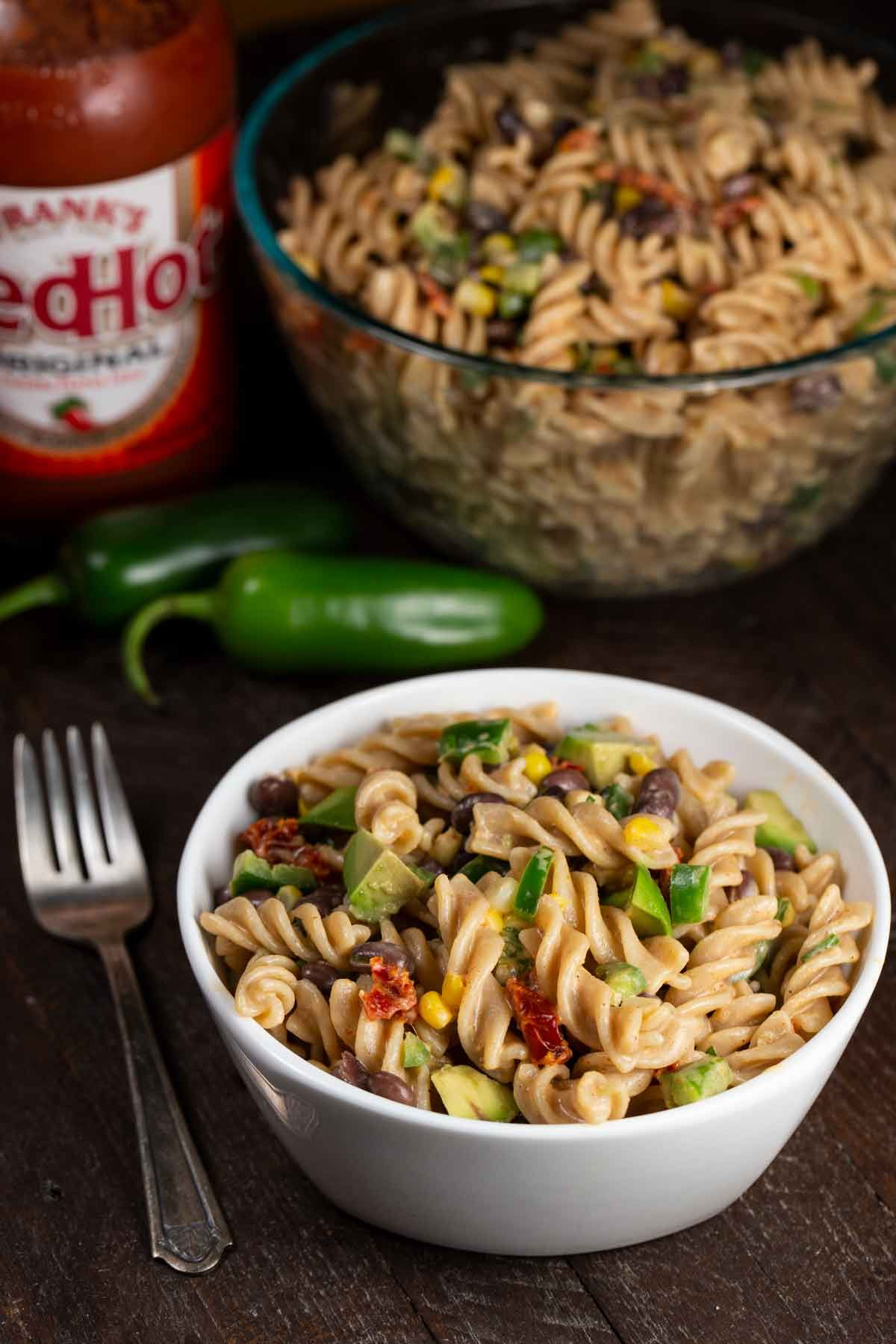 Spicy Jalapeno Pasta Salad