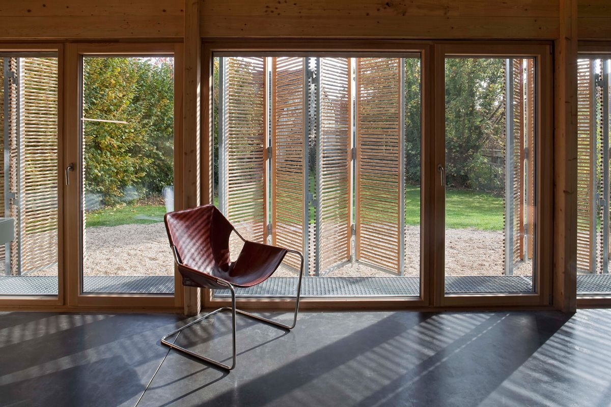 Bamboo house window design  sustainable building material bamboo  inspiration  modlar