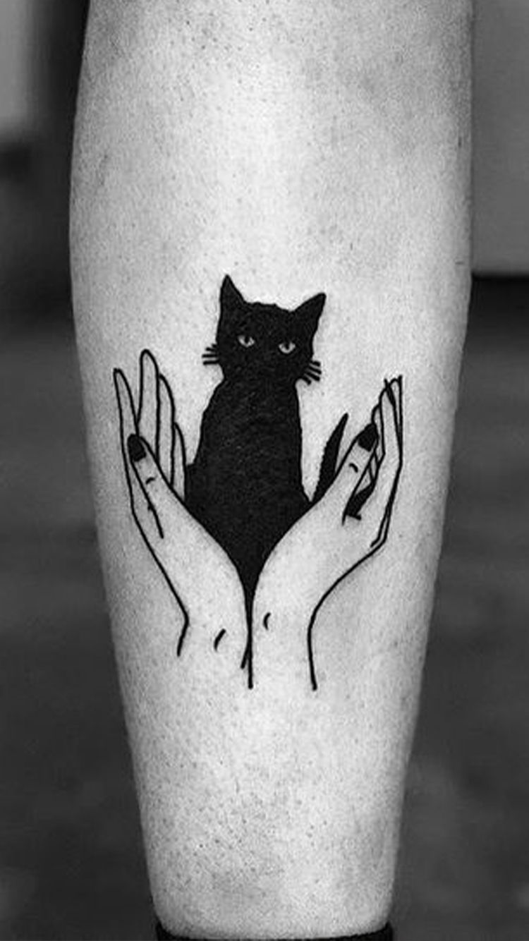 Witch Tattoo Designs To Embrace Your Dark Side Witch Tattoo Black Cat Tattoos Spooky Tattoos