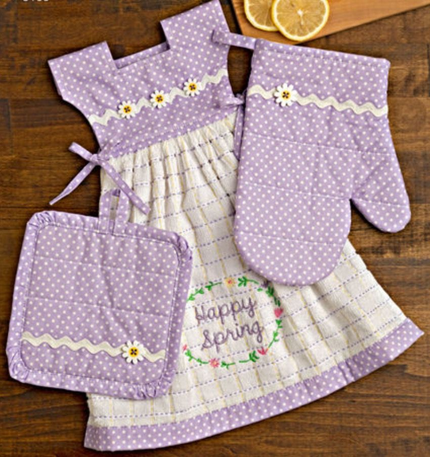 Cute Hanging Dish Towel Dress Pattern