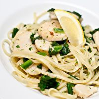 Ramp and Scallop Linguine by No Recipes