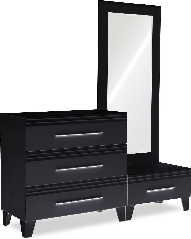 Allori Chest And Dressing Mirror Black Dressing Mirror White Bedroom Furniture Mirror Decor Living Room [ 1500 x 1199 Pixel ]