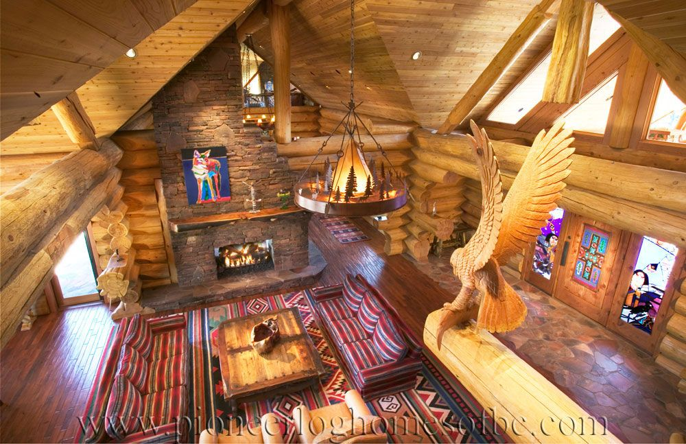 Pioneer log homes of bc pioneer log homes british for Log cabin furniture canada