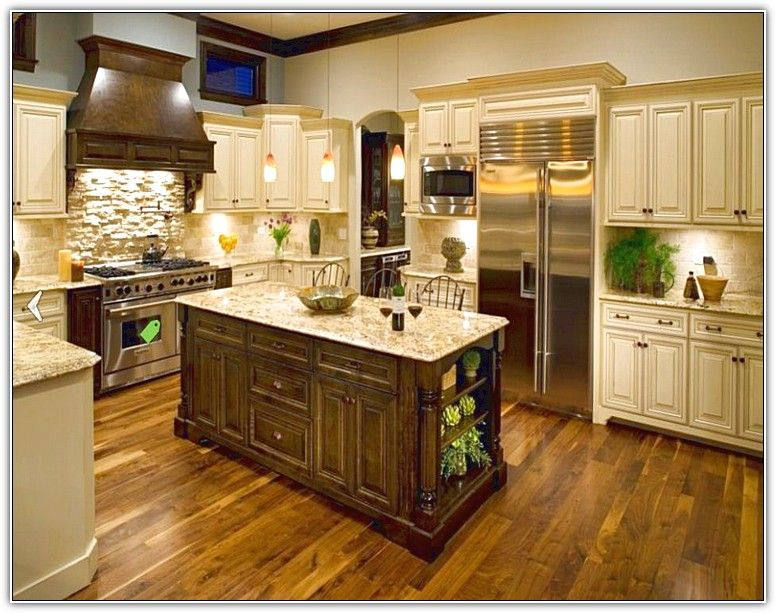 Tuscan Kitchen White Cabinets From Style Dark Wood Tile Floor Cream Colored