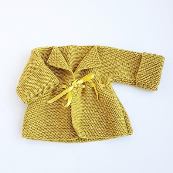 Baby Cardigan, Hat and Booties Set / Baby Layette / Knitted Baby Clothes / Baby Shower Gift / Knitted Baby Gift Set / 3-6 Months #autumncolours