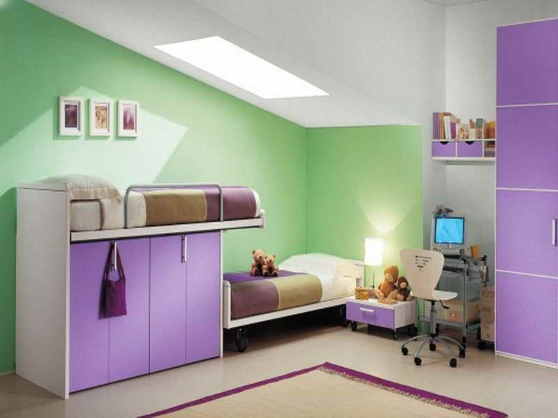Beautiful Beautiful Green Wall Decoration In Small Purple Bedroom Interior Decorating  Design Ideas For Teenage Girls