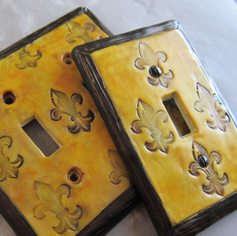 Custom Light Switch Plates Enchanting Custom Fleur De Lis Light Switch Plate Cover Made To Order Review