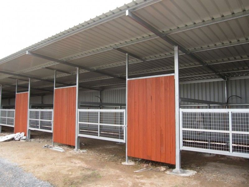 Horse Stables Paddock Boxes Steel Frame Building Victoria Larger