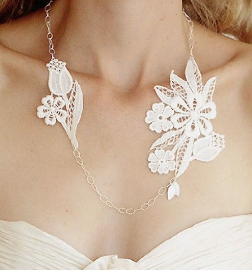 Lace necklace DIY idea JewelCrafting Pinterest Lace necklace