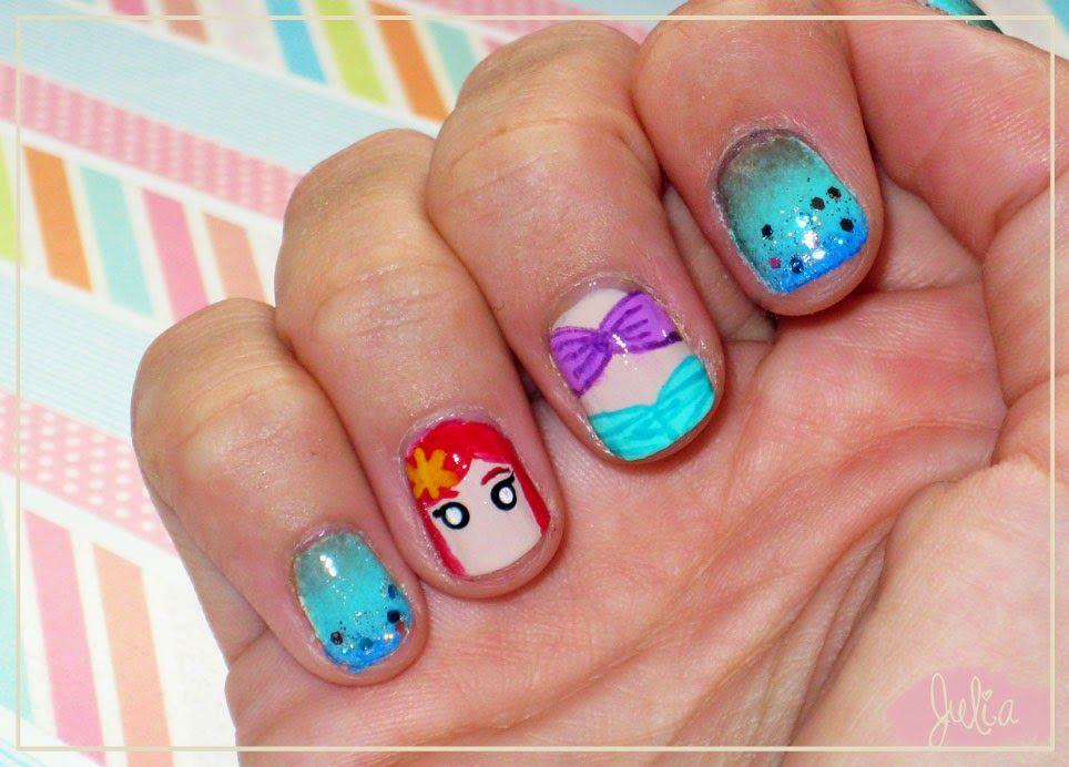 Las uñas de Julia: Nails Art Ariel / Princesas Disney | Disney <3 ...