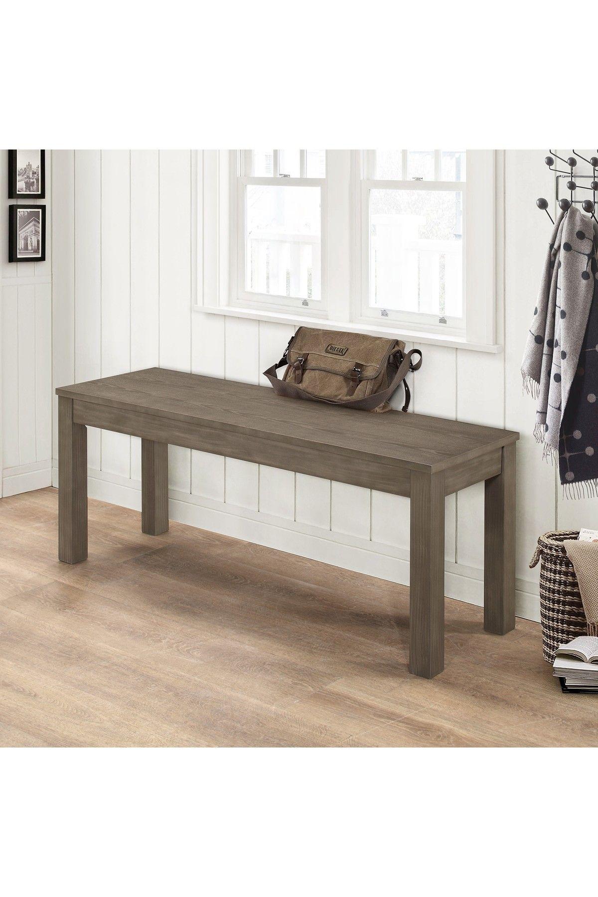 "Walker Edison Furniture pany 48"" Aged Grey Homestead Simple Wood"