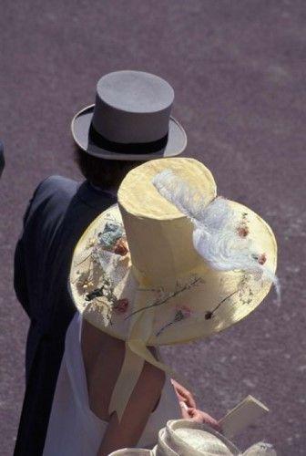 Man and woman wearing hats, Royal Ascot, London, England Poster Print by Alan Klehr (24 x 36)