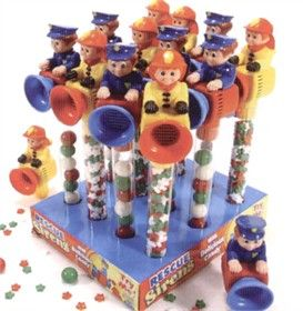 Rescue Team Toy With Candy 12ct - Police & Fireman 12ct
