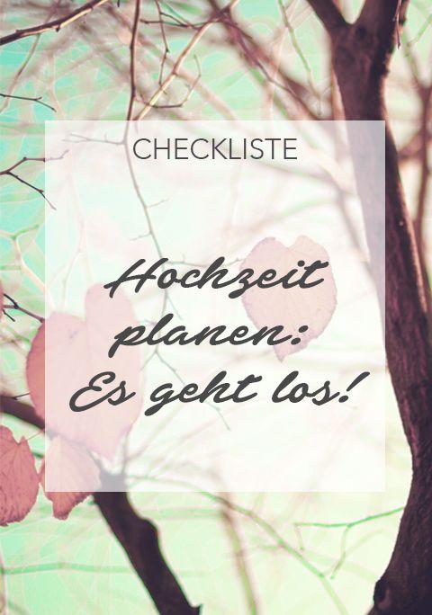 Hochzeitsplanung: Die große Checkliste für deine ...